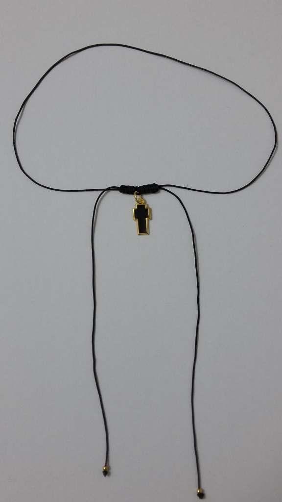 Κολιέ σταυρός με σμάλτο σε μαύρο κορδόνι-ΚΜΠ012-10ευρώ 42d7770d48f
