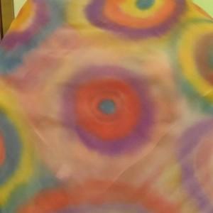 Μεταξωτό φουλάρι ζωγραφισμένο στο χέρι (όχι μπατίκ)-75x75cm-ΜΜΠ001-25ευρώ