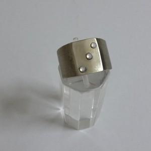 ΔΜΠ001-Δαχτυλίδι χειροποίητο από αρζαντό με 3 swarovski-12ευρώ