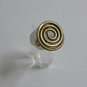 ΔΜΠ005-Δαχτυλίδι χειροποίητο σπείρα από ορείχαλκο-8ευρώ