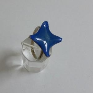 ΔΜΠ008-Δαχτυλίδι χειροποίητο από αρζαντό βαμμένο με σμάλτο-12ευρώ