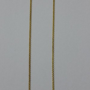 ΚΜΠ026-Κολιέ με μαύρο κρύσταλλο ιριζέ σε αλυσίδα-8ευρώ