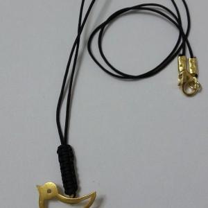 ΚΜΠ038-Κρεμαστό λαιμού με ασημένιο επιχρυσωμένο στοιχείο πουλάκι 20 ευρώ