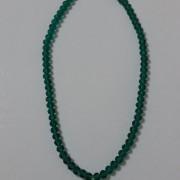 ΚΜΠ044-Κολιέ κοντά στο λαιμό με πράσινα κρύσταλλα και κεντρικό στοιχείο καρδιά από κρύσταλλο επιχρυσωμένο 28 ευρώ