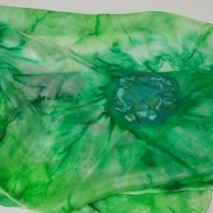ΜΜΠ009-Μεταξωτό φουλάρι ζωγραφισμένο στο χέρι (όχι μπατίκ) 145x40 εκ. 30 ευρώ