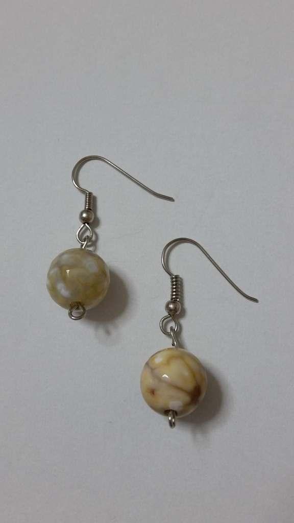 ΣΜΠ007-Σκουλαρίκια με στρογγυλή πέτρα αχάτη-8ευρώ feb452076b0