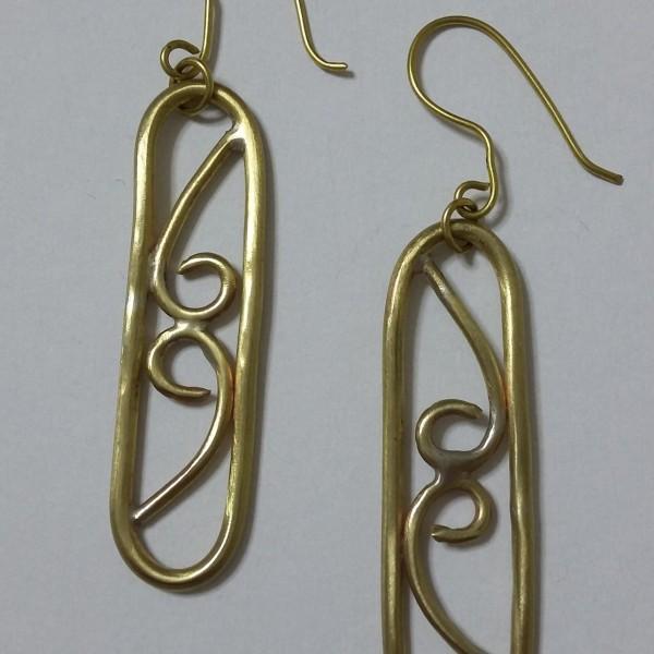ΣΜΠ011-Σκουλαρίκια χειροποίητα από ορείχαλκο-10ευρώ