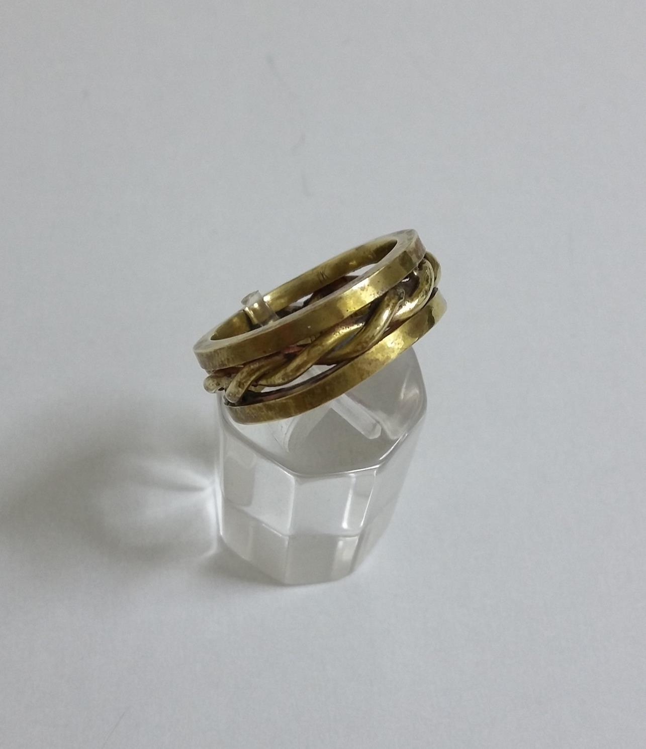 Δαχτυλίδι χειροποίητο από ορείχαλκο