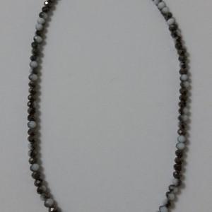 ΚΜΠ014-Κολιέ κοντό με ασπρόμαυρα κρύσταλλα-10ευρώ c73f07d11fe