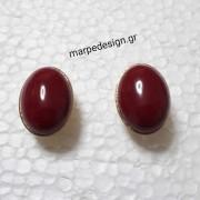 ΣΜΠ101-Σκουλαρίκια ατσάλι καρφάκι χρυσό καστόνι με πέτρα ίασπη ... 434dc404e72